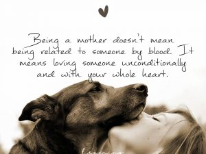 Being a mother doesn't mean being related to someone by blood…
