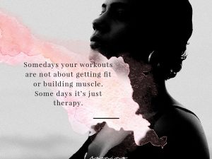 Some days it's just therapy…