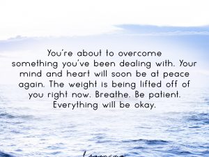 Everything will be okay…