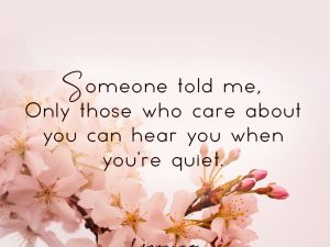 Someone told me…