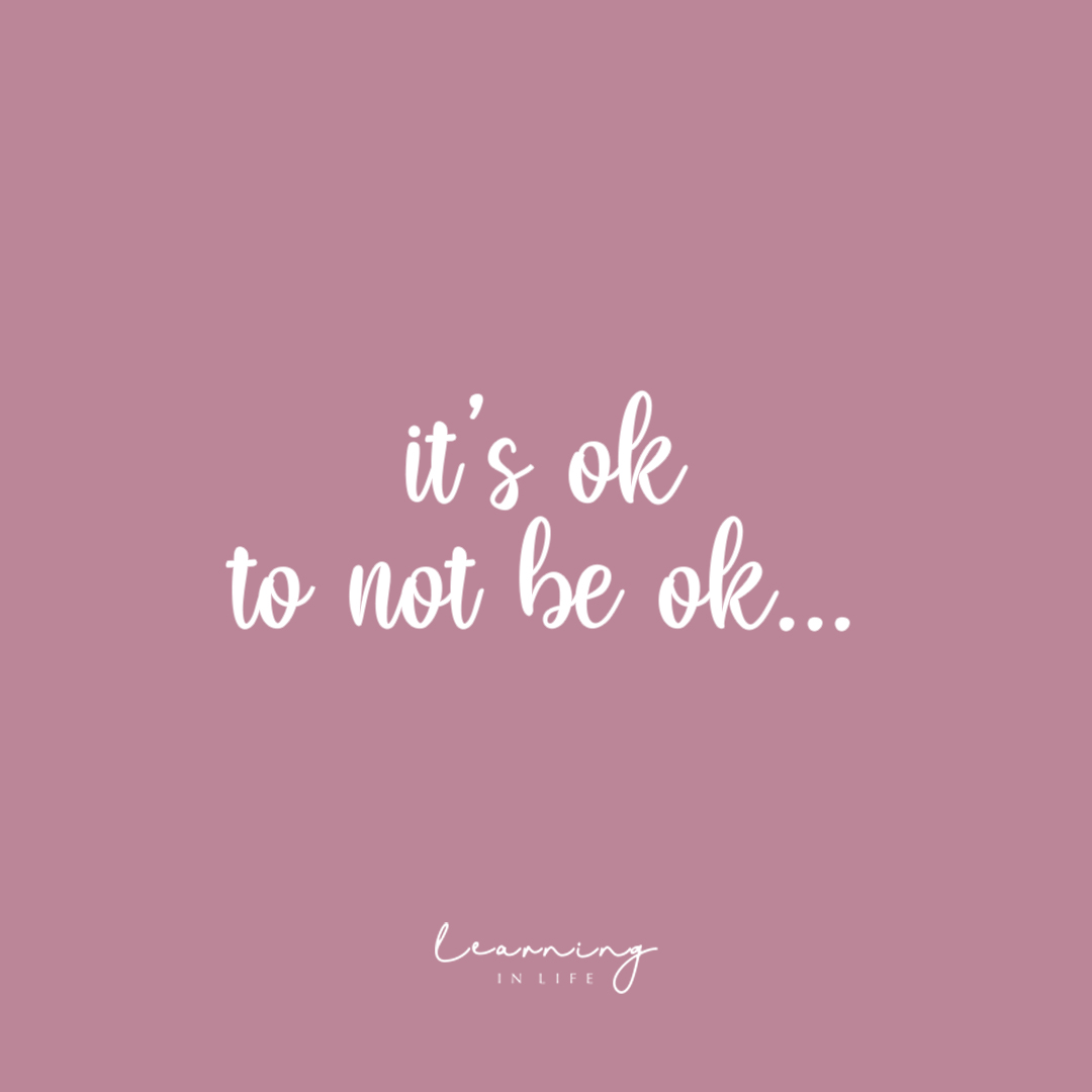 Photo of It's ok to not be ok…