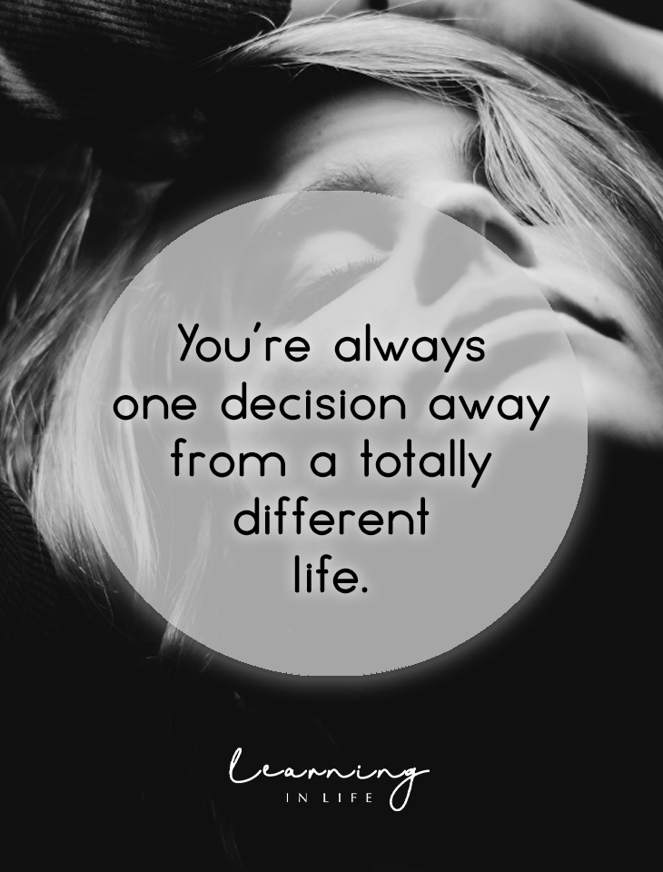 Photo of One decision away…