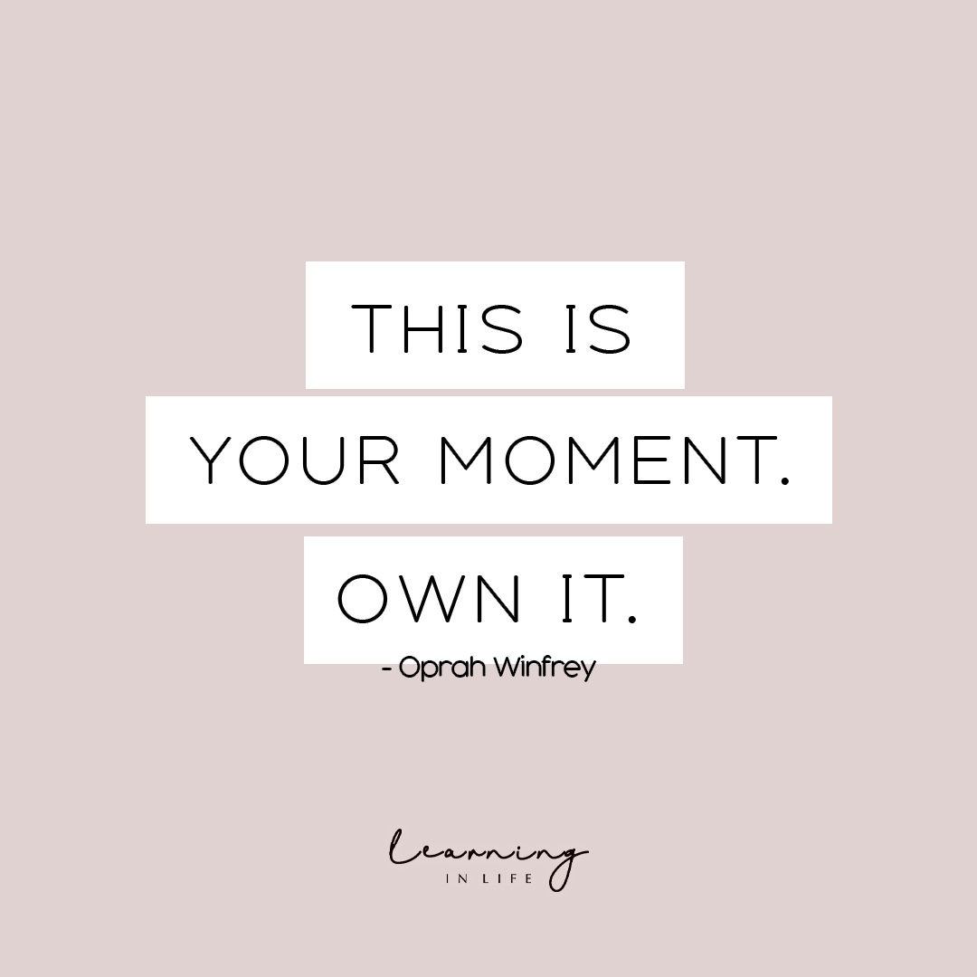 Photo of This is your moment.