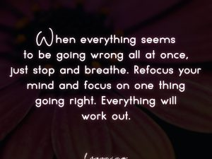 Everything will work out.