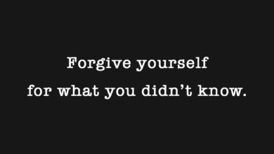Photo of Forgive yourself…
