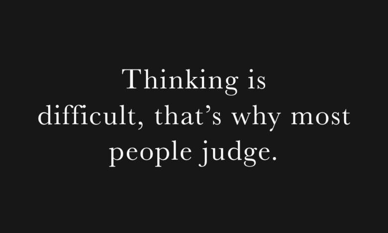 Photo of Thinking is difficult…