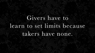 Photo of Givers have to learn to set limits…