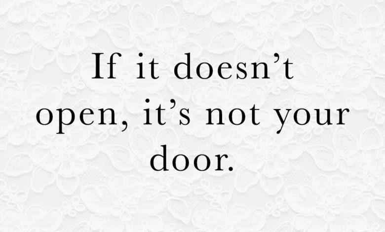 Photo of … it's not your door.