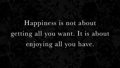 Photo of Happiness is not about getting all you want…