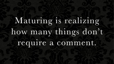 Photo of Maturing is realizing…