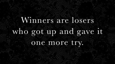Photo of Winners are losers who…
