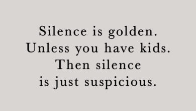 Photo of Silence is golden.