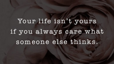 Photo of Your life isn't yours…