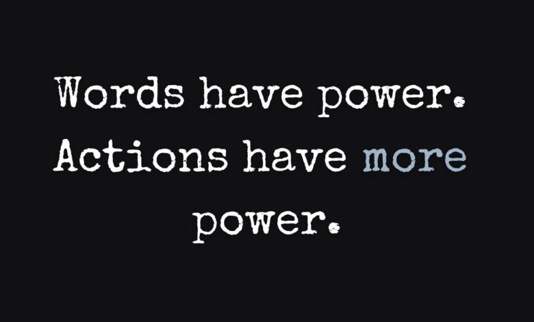 Photo of Words & Actions