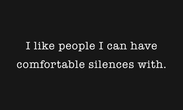 Photo of Comfortable Silences