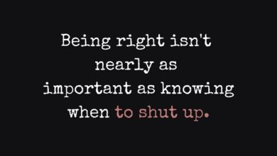 Photo of Knowing when to shut up…