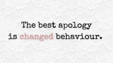 Photo of The best apology is…