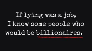 Photo of If lying was a job…