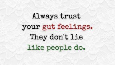 Photo of Always trust your gut!