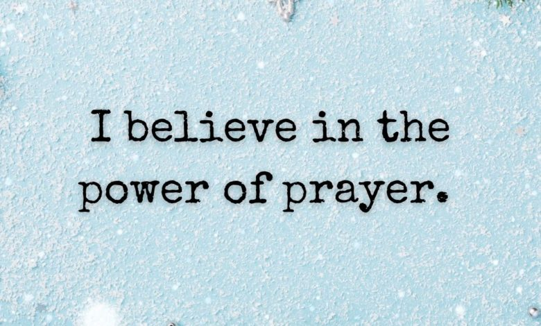 Photo of The power of prayer.